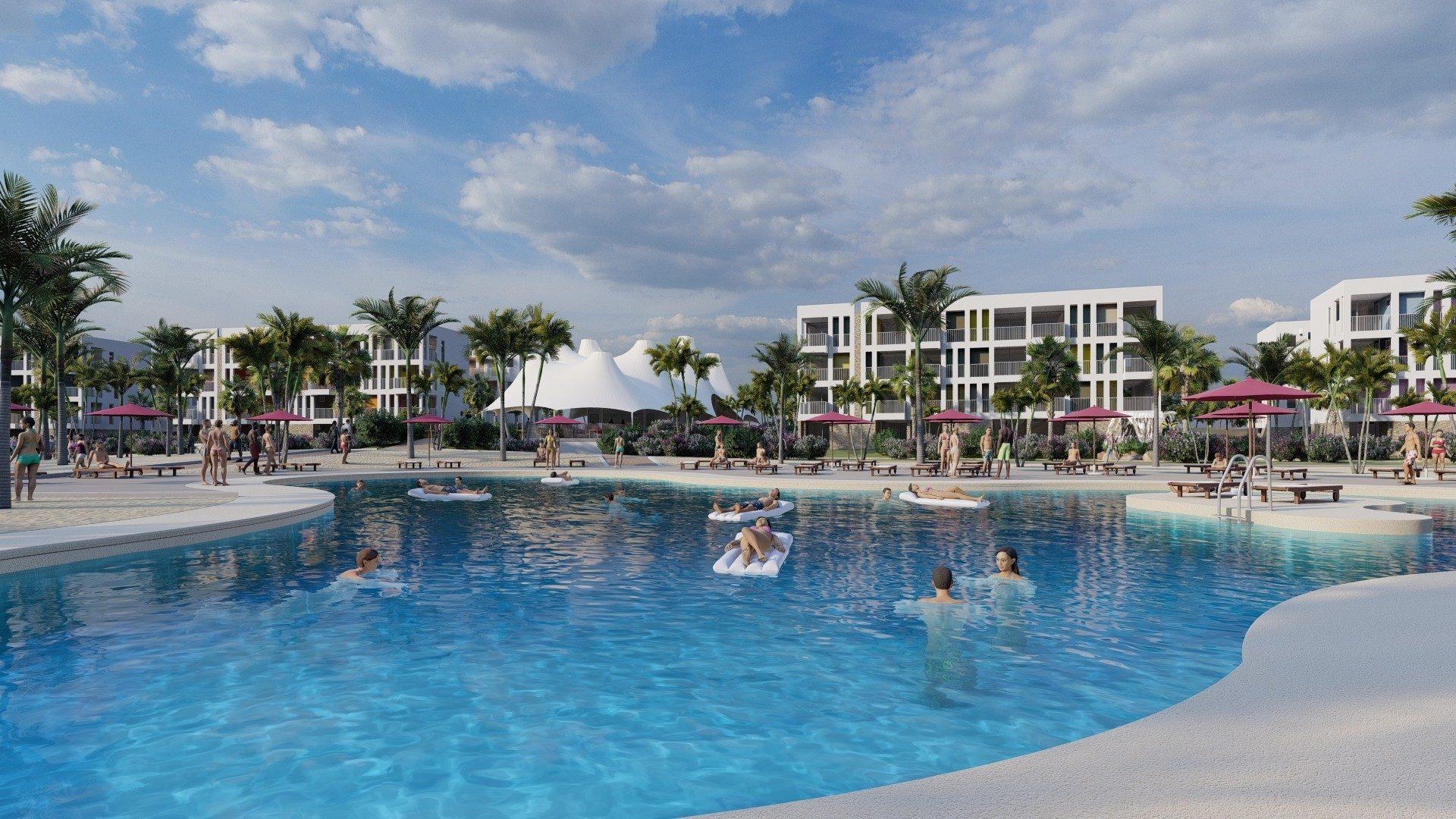 The Chogogo Bonaire dive and beach resort pool.
